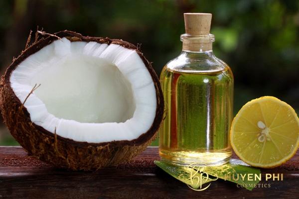 Dầu dừa và nước chanh làm trắng da an toàn