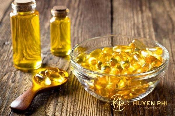 Vitamin E và baking soda hỗ trợ dưỡng ẩm, đẹp da
