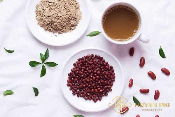 Bột đậu đỏ loại bỏ các thành phần gây hại cho da hiệu quả