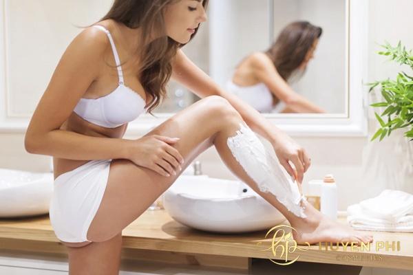 Chị em có thể tẩy lông chân bằng kem để có được làn da láng mịn
