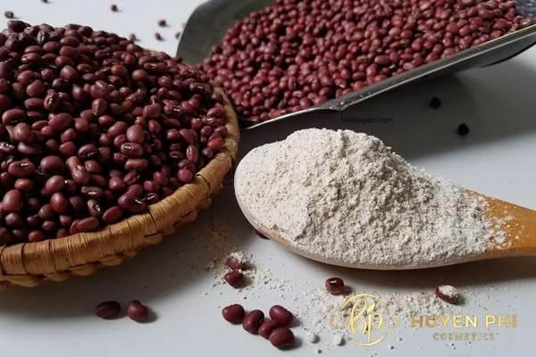 Bột đậu đỏ được áp dụng trong các phương pháp làm trắng da