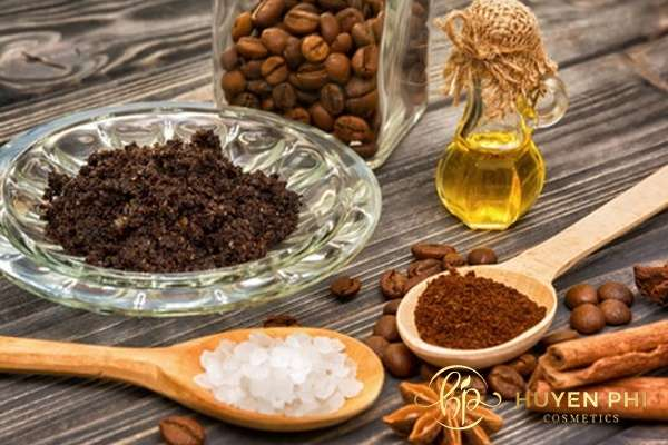 Chăm sóc da với bã cà phê và dầu oliu