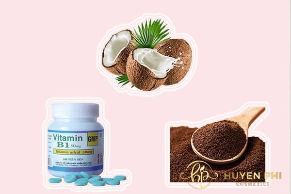 Vitamin B1 và bã cafe giúp bạn có làn da trắng mịn tự nhiên