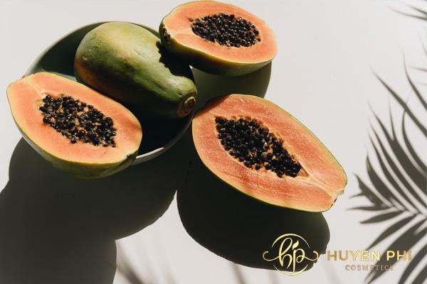 Đu đủ và vitamin B1 dưỡng trắng làm đẹp da hoàn hảo