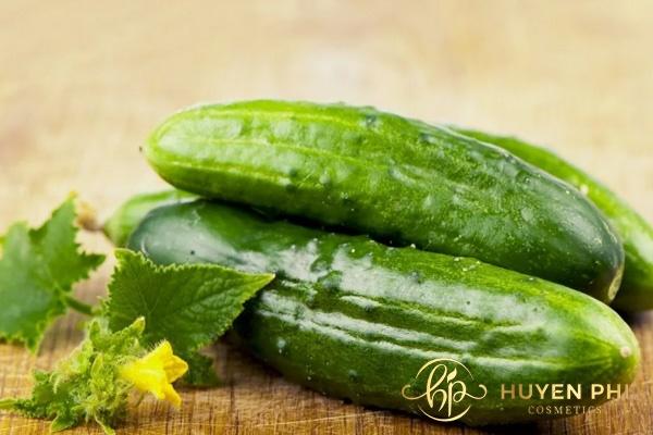 Dưa leo có chứa nhiều vitamin A, axit folic chống nắng hoàn hảo