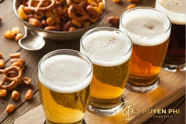 Hoạt chất có trong bia giúp da trắng hồng