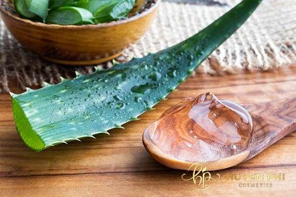 Chất gel trong nha đam giúp tái tạo và làm dịu da hiệu quả