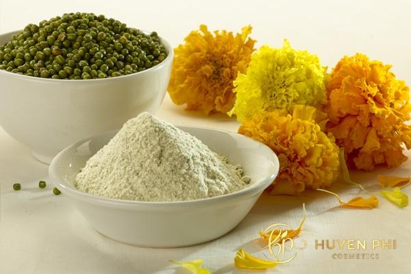 Bột đậu xanh là nguyên liệu dưỡng trắng da hiệu quả