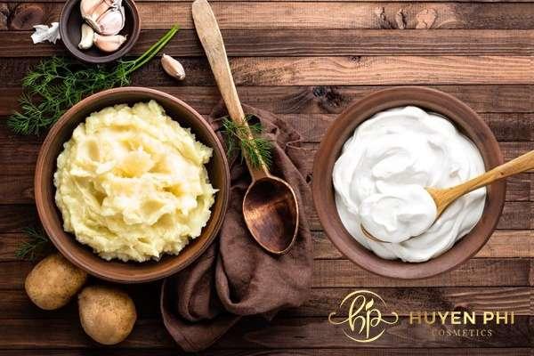 Bộ đôi sữa chua và khoai tây là công thức dưỡng trắng da hiệu quả